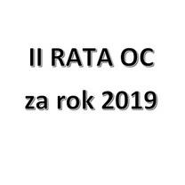 II Rata OC za rok 2019