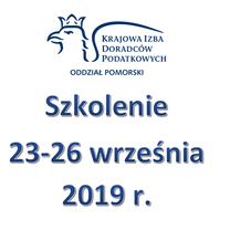 Zaproszenie na szkolenie wyjazdowe 23-26 września 2019 r.