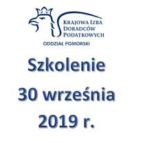 Zaproszenie na szkolenie - 30 września 2019 r.