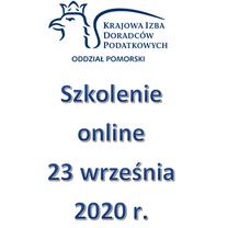 Szkolenie Online - 23 września 2020 r.
