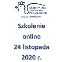 Szkolenie Online - 24 listopada 2020 r.