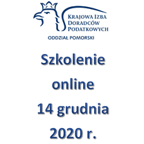 Szkolenie Online - 14 grudnia 2020 r.