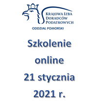 Szkolenie Online - 21 stycznia 2021 r.