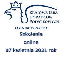Szkolenie online 07 kwietnia 2021 rok